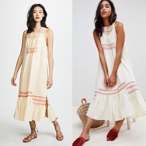 NWT Free People Another Love Smocked Midi Dress